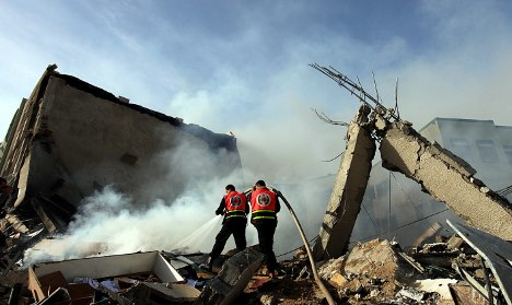 Merkel blames Hamas for Gaza Strip violence