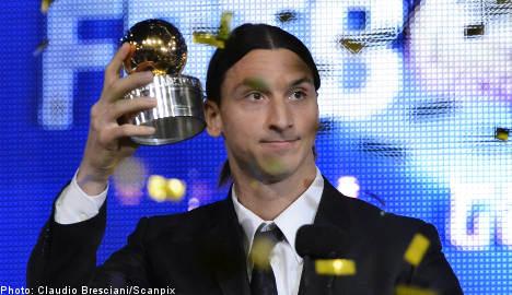 Zlatan in record seventh 'Golden Ball' triumph