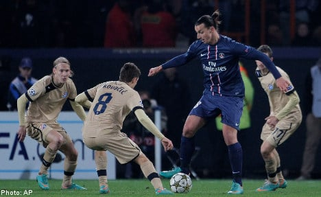 Zlatan serves up four assists in PSG win
