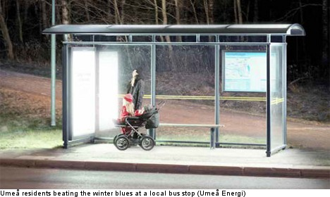 Depressed Swedes get bus stop light therapy