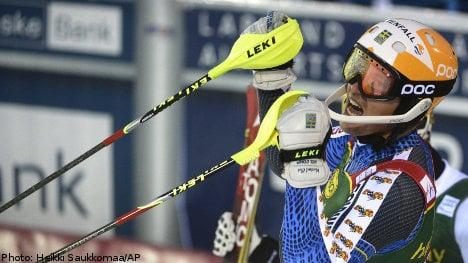 Sweden's André Myhrer wins World Cup slalom