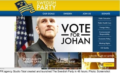 Swedish PR firm 'enters' US presidential race