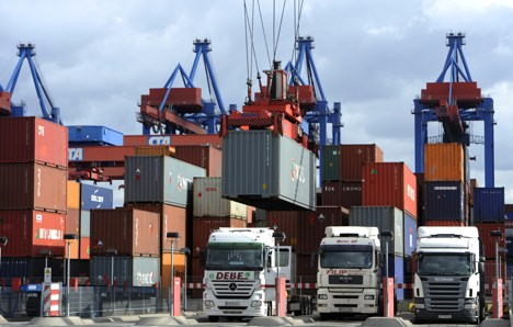 German exports due a boost in 2013