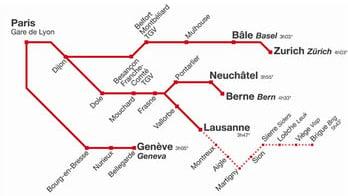 Rail operator seeks to axe Bern-Paris TGV