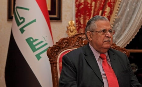 Iraqi president heads to Germany after stroke