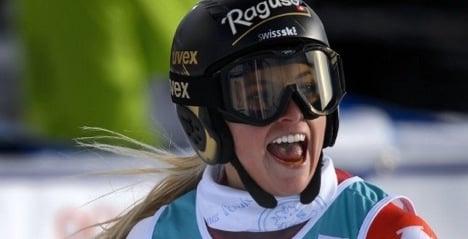 Swiss skier Lara Gut wins Val d'Isère downhill