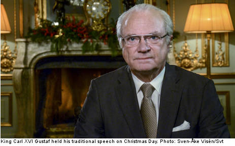 Swedish king sends green Christmas greeting