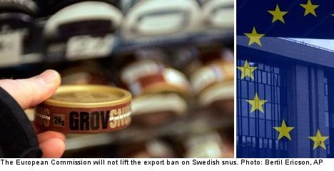 EU to uphold export ban on Swedish snus