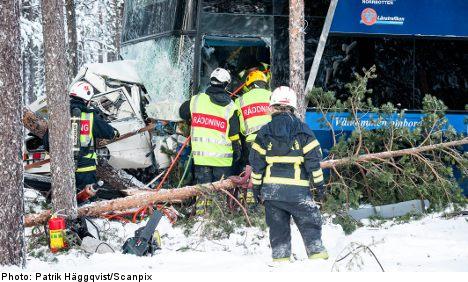 One dead as double-decker bus crushes car