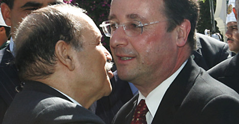 Hollande hopes to leave past behind in Algeria