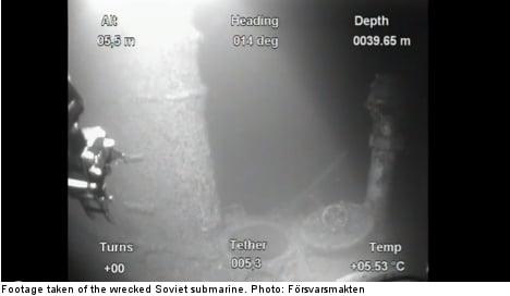 Soviet submarine wreck found off Sweden