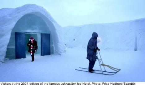 Jukkasjärvi erects Sweden's 23rd Ice Hotel