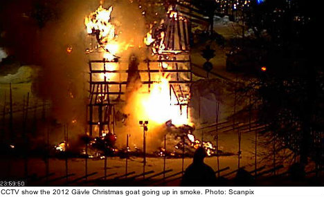 Game over for this year's Gävle Christmas goat