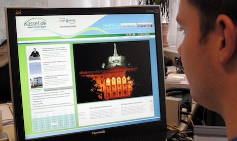 German websites gain ground at home