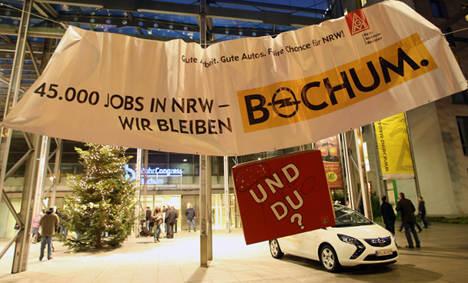 Opel cuts car production at Bochum plant