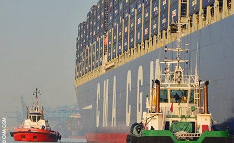 World's biggest cargo ship docks in Hamburg