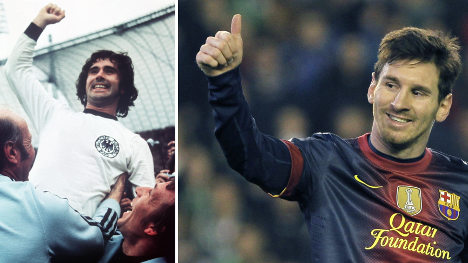 Football legend Müller hails 'giant' Messi