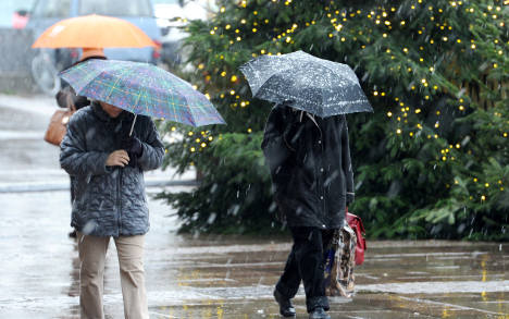 Warm, slushy Christmas in store for Germany