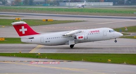 Engine failure forces Swiss landing in England