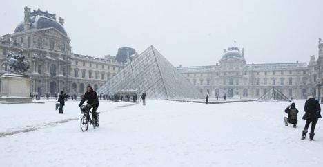 In Pictures: Paris as a winter wonderland