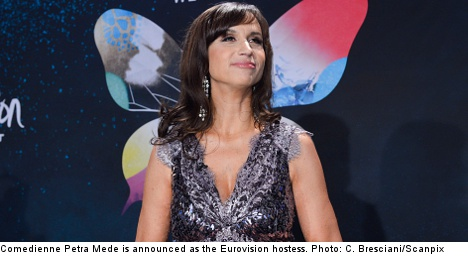 Swedish comic Petra Mede to host Eurovision