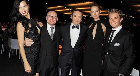 Hollywood stars model watches in Geneva