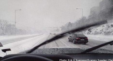 Swedish motorists battle more icy roads