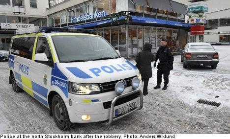 Four remanded after Stockholm bank raid