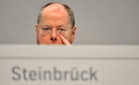 Steinbrück's approval ratings collapse