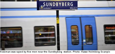 Woman raped by five men in Stockholm