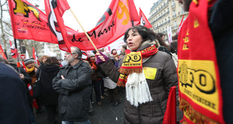 France's civil servants stage mass walk-out