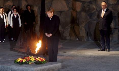 Merkel: Holocaust guilt is 'everlasting'