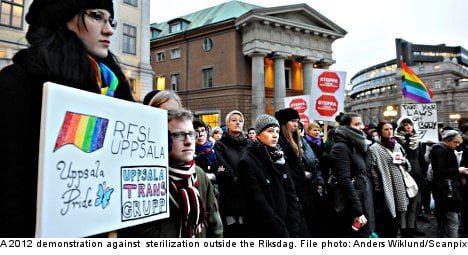 Sweden to stop sex change sterilization
