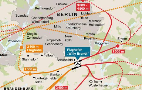 Terrorist fears undo planned Berlin flight path