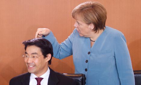 Merkel rides high as partner FDP nose-dives