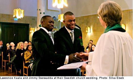 Ugandans' gay wedding 'first' highlights Sweden asylum lottery
