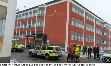 Students questioned over Stockholm school blast