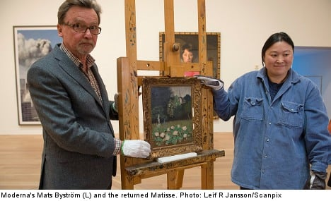 Museum delighted to show returned Matisse
