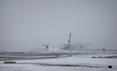 Wintry weather cancels flights in Frankfurt
