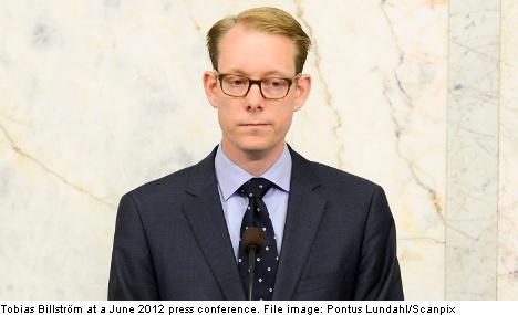 Billström sparks 'blonde, blue-eyed' outrage
