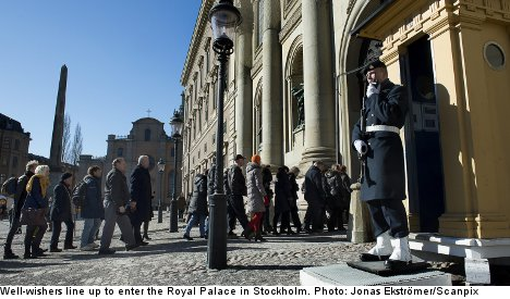 Swedes pay respects to Princess Lilian