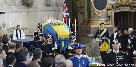 Sweden bids farewell to Princess Lilian