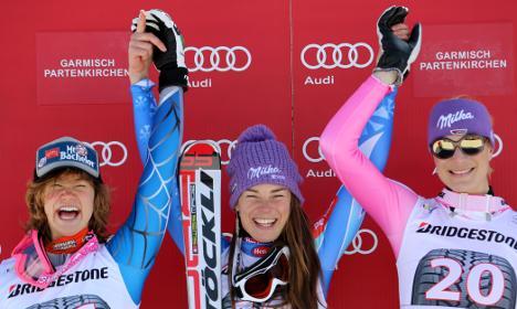Record-breaking Maze wins Garmisch downhill