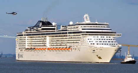 Europe's largest cruise ship takes to the seas