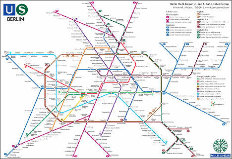 British professor redraws Berlin's metro map