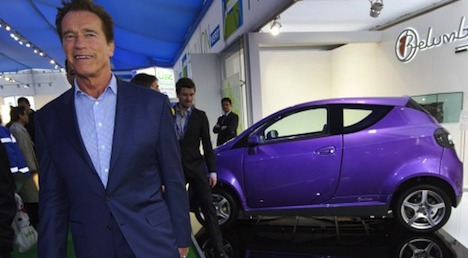 Schwarzenegger is back at Geneva motor show