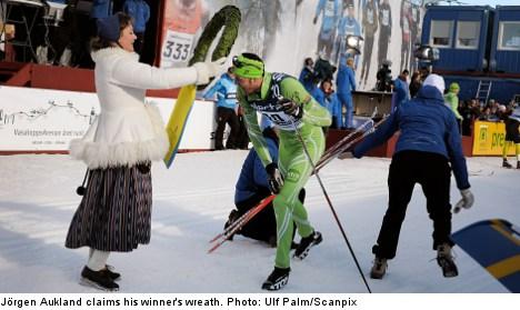 Norwegian Aukland wins Sweden's Vasaloppet