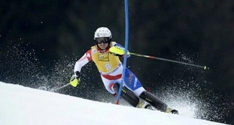 Swiss skier Holdener claims first podium win