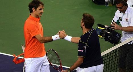 Federer beats fellow Swiss at Indian Wells