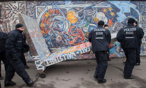 Protesters block Berlin Wall gallery demolition